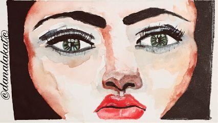 wip drawing painting watercolor portraitdrawing