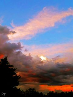 freetoedit sunset clouds colorful