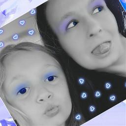 colorsplash blackandwhite makeup neonheartsstickerremix neonhearts freetoedit