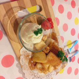 honey caramel toast dessert desserttime freetoedit