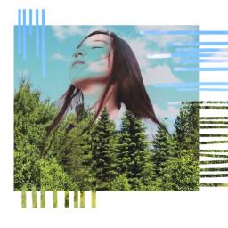freetoedit girl nature teees sky