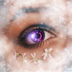 freetoedit eye doubleexposure galaxy stars