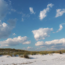 sky clouds beach