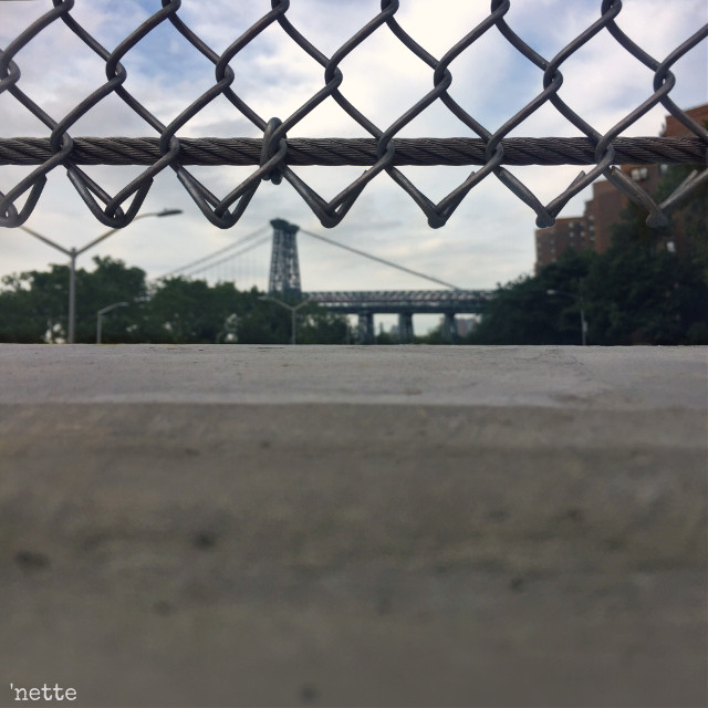 from the pedestrian bridge ... #williamsburgbridge #lookingthrough #freetoedit #myoriginalphoto