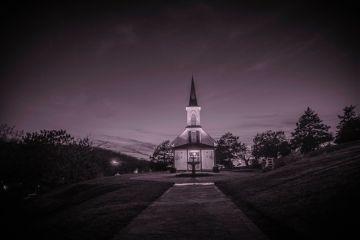 chapel architecture night church building