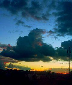 freetoedit evening kenya clouds
