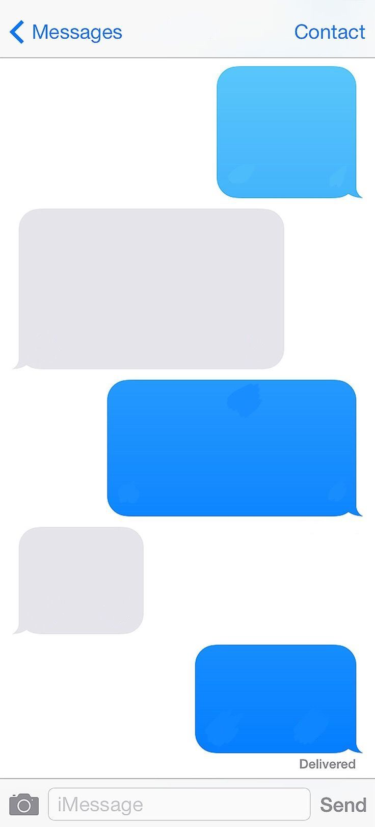 Iphone Template Imessage Message Blank Freetoedit