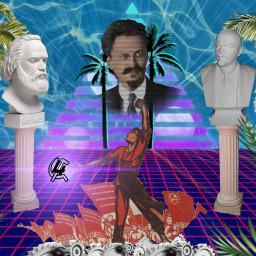 freetoedit trotsky vaporwave laborwave fourthinternational