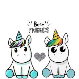 friendshipdaystickerremix freetoedit unicorns stickers heart
