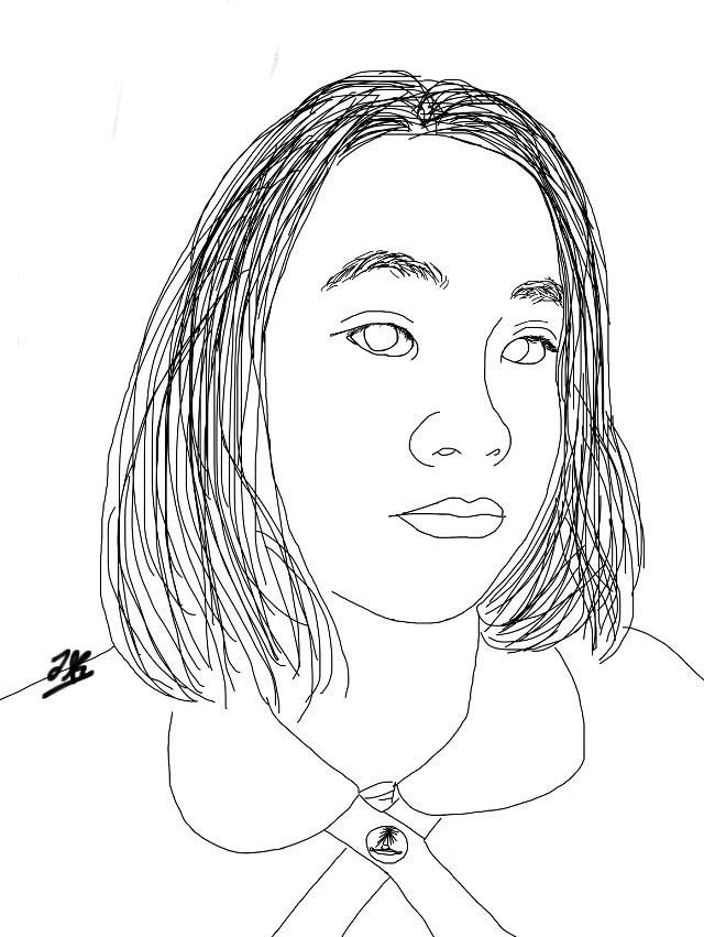 #freetoedit #me #myself #drawing #outline #portrait