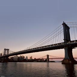 freetoedit brooklynbridge manhattanbridge newyorkcity sunrise