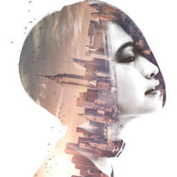 freetoedit woman girl hair doubleexposure