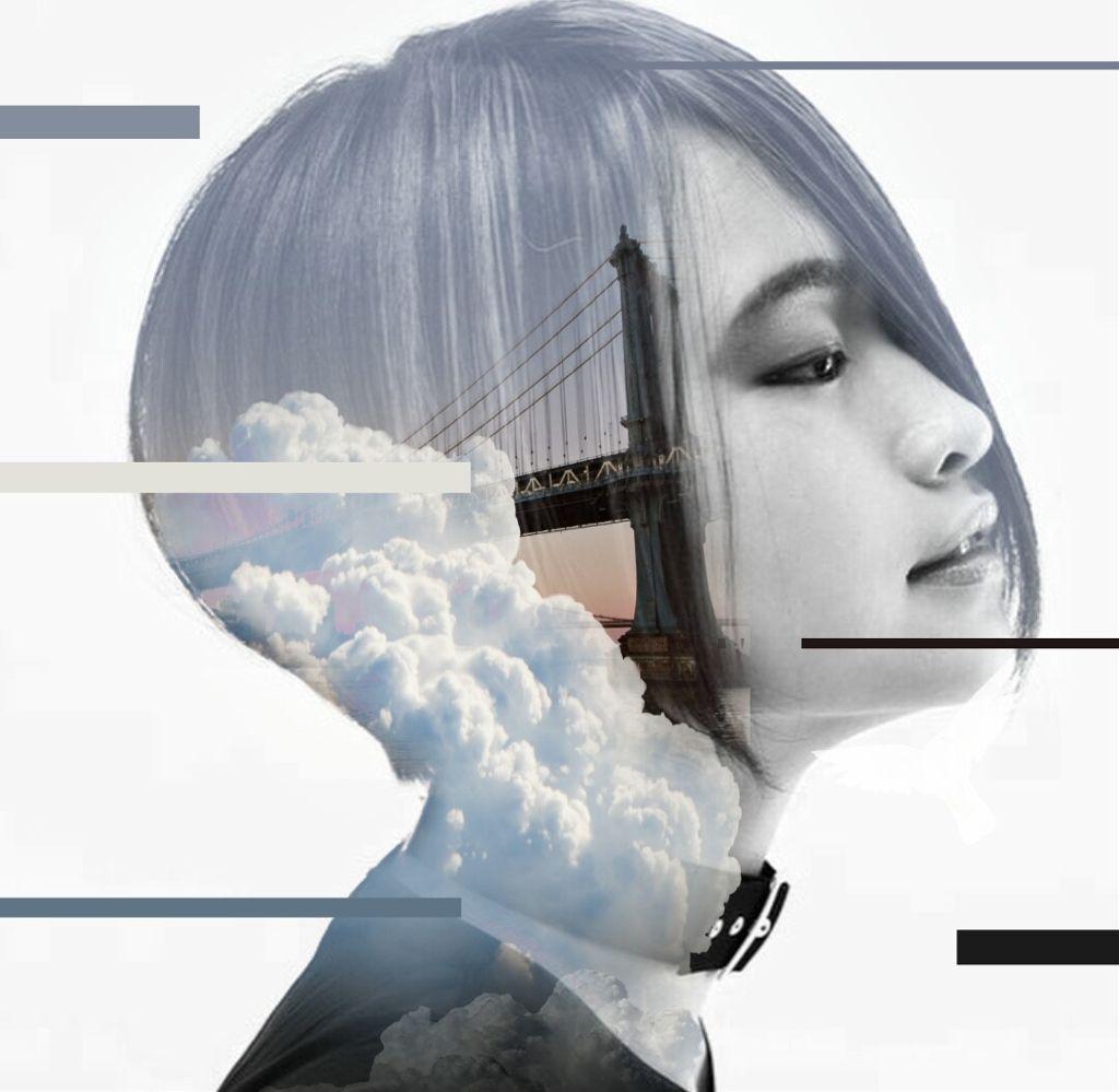 #doubleexposure #lines#clouds#bridge#remixit #travel #colorful #blackandwhite #colors#myedit #myremix #sunrise