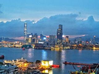 hongkong nightview cityscape skyline victoriapark