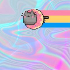 freetoedit cat donutcat rainbow holographic