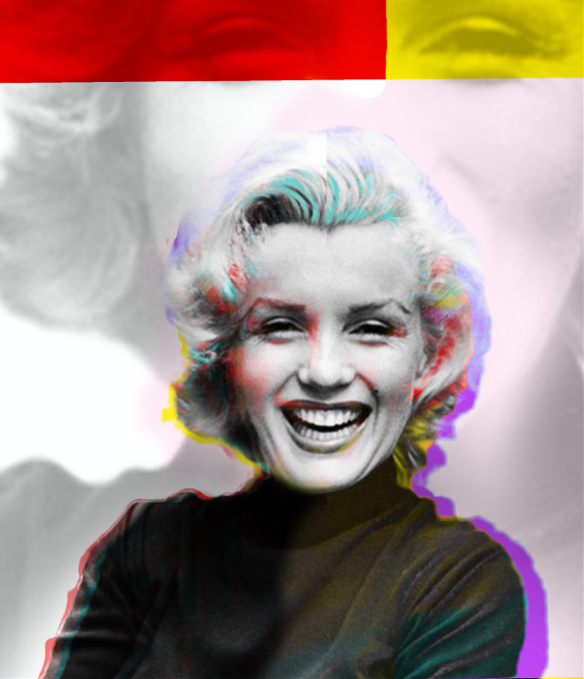 #doubleexposurecontest #marilynmonroe #popart #myedit #creative #artistic #colors