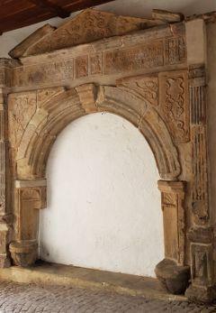gate arch stone inscription art