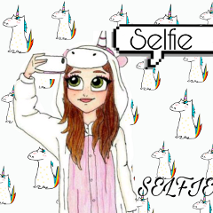 freetoedit unicorn selfie