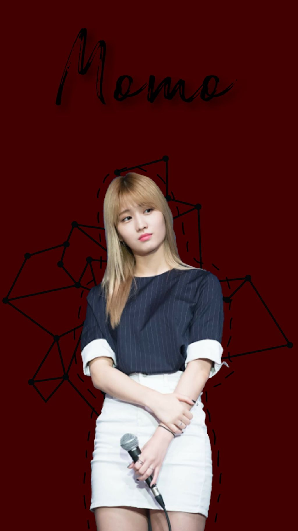 Twice Momo Red Wallpaper Image By Ana