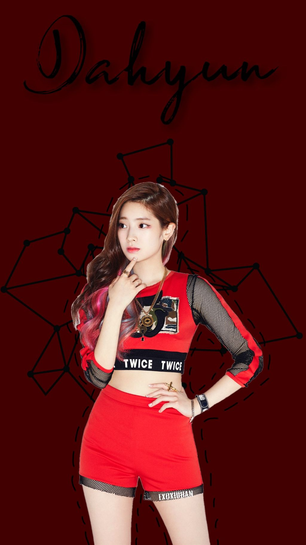 Twice Dahyun Red Wallpaper Image By Ana