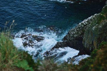 travel france hike cliffs nature
