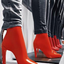 shoes orangecolor feet colorexplosion
