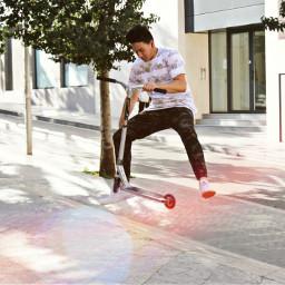 scoot scooter barcelona sunrise fingerwhip follow freetoedit