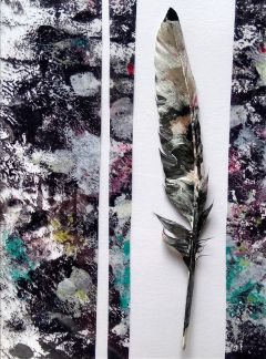 painting acrylic theprometeus feather