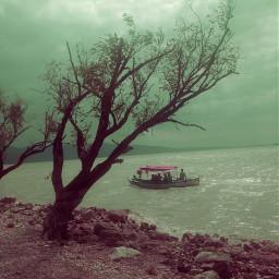 pinkrosesstickerremix freetoedit lake lakeside sky