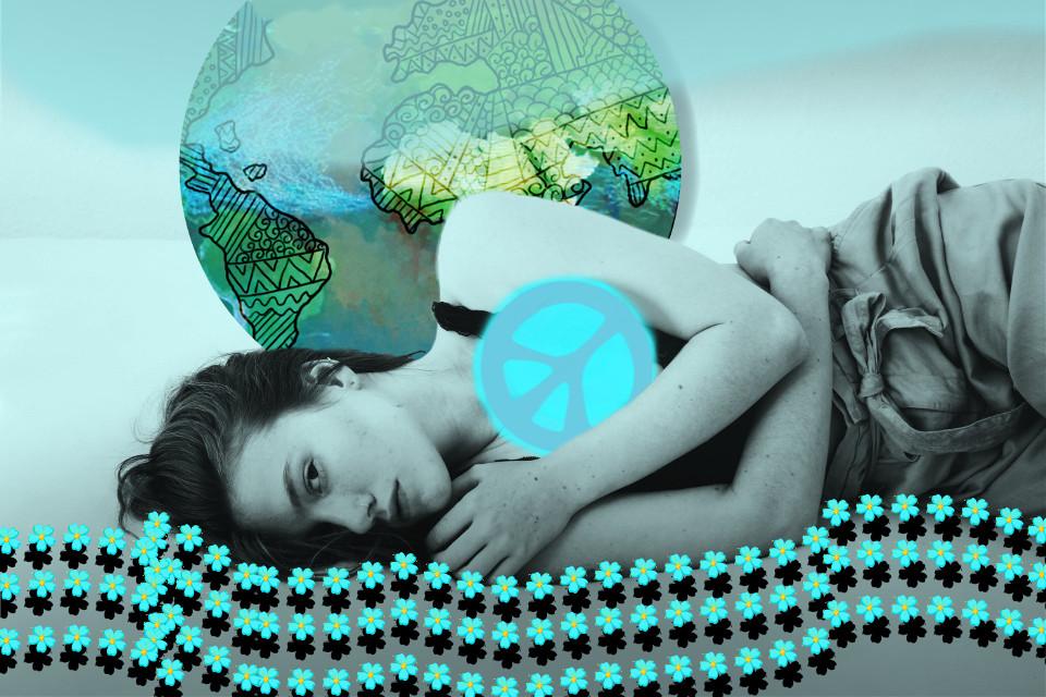 Sleep well! #madewithpicsart #drawingtools #drawstamps #world #earth #peace #peacesign #flowers