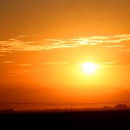 orange sunrise sun rise yellow daybreak pccolororange freetoedit