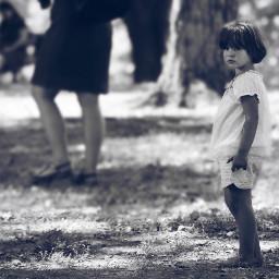freetoedit girl blackandwhite littlegirl park