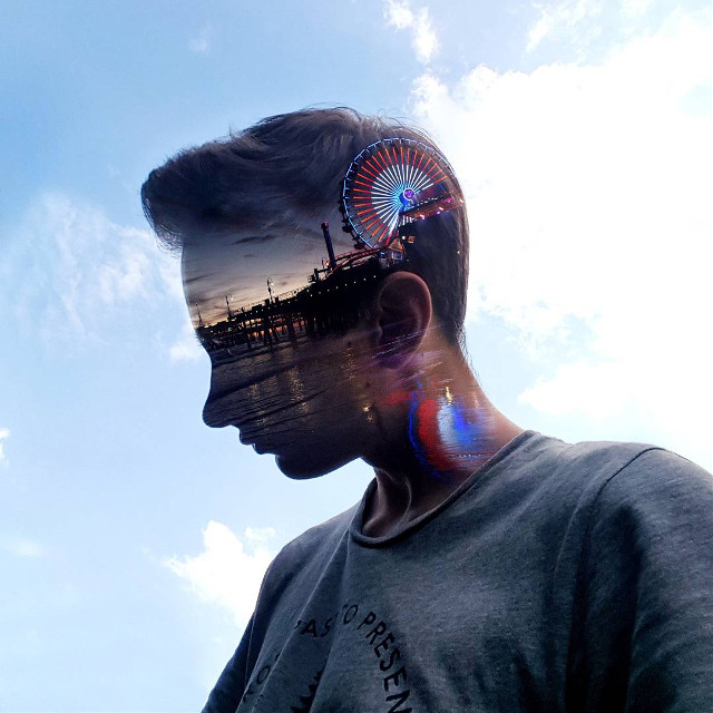 Every moment will pass, but the memories remain.  #doubleexposure #silhouette #edited #surreal #surrealism op: jimmy2take (IG)