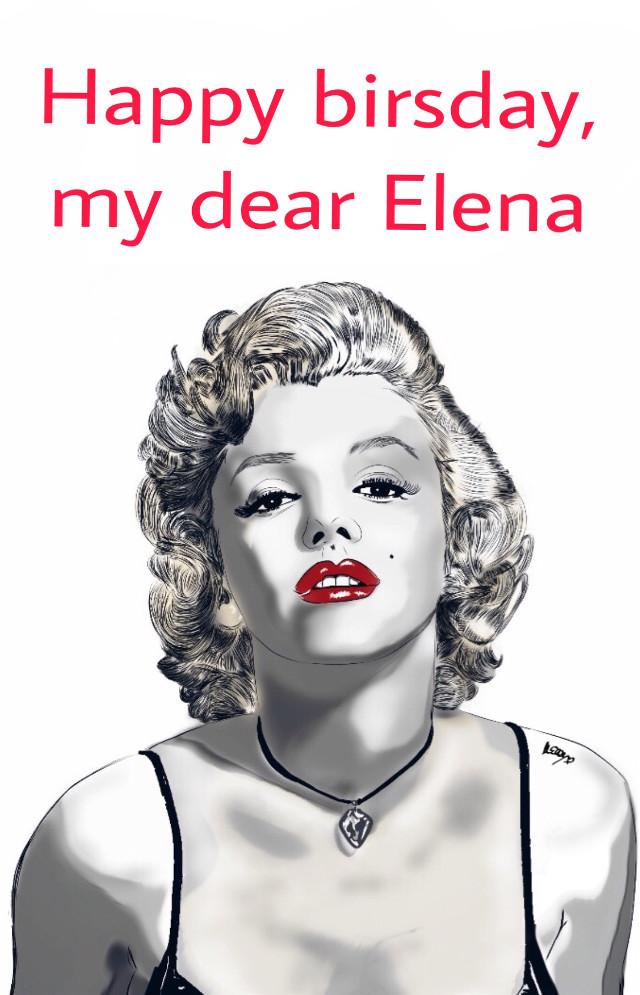 Happy birsday, my dear Elena @maddalena30 🌹     #freetoedit #freetoedit #remixit #remixed