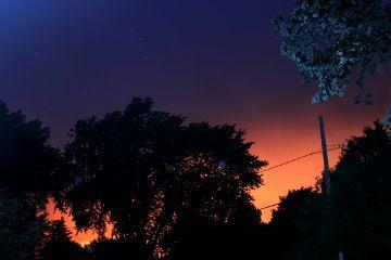 sunset sky night stars colorful freetoedit