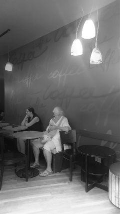 photography streetphotography bar woman blackandwhite freetoedit