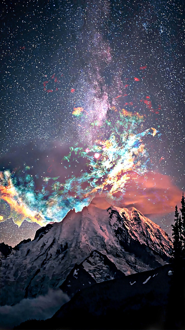 #mountain #colorful #twophotos #blendedimages 🌌🏔🗻⛰