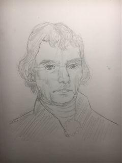 president thomasjefferson myart sketch mydrawing