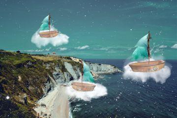 freetoedit boats stars clouds cliffs