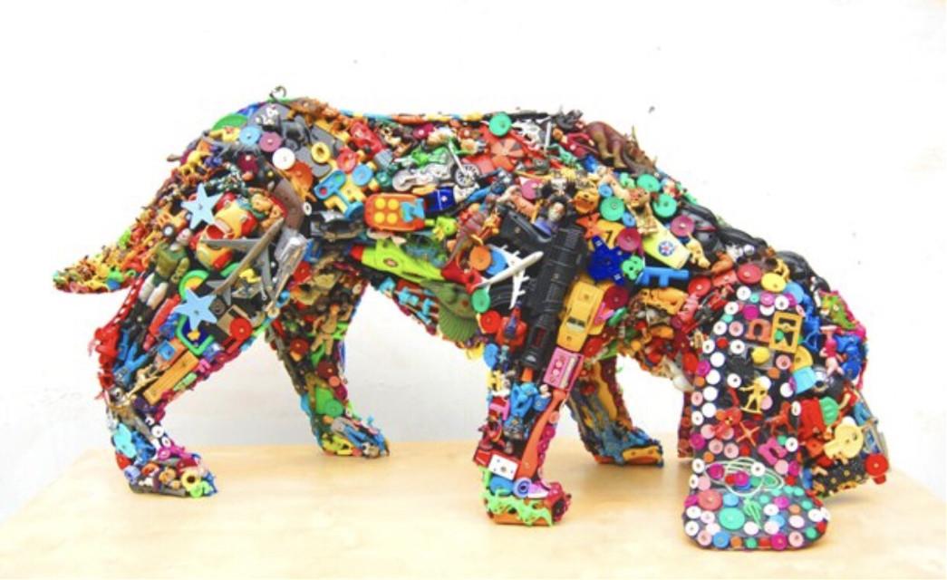#recycled #oldtoys #newart
