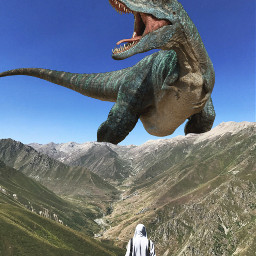 freetoedit dinosaur mountain giant