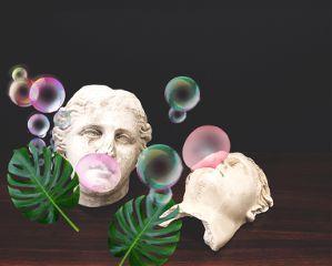 freetoedit bubblegum chewinggum gum sculpture