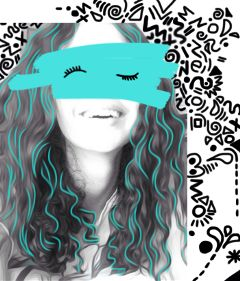 doodle selfe girl funny smile