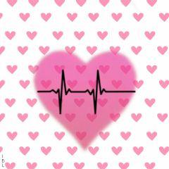 freetoedit remix heartbeatstickerremix pink hearts