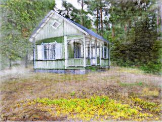 freetoedit house woods forest pencilart