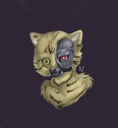 freetoedit cat robot strange cute