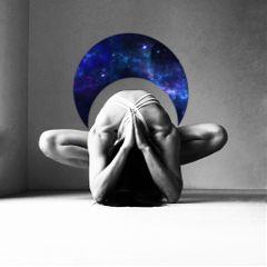 crescentmoonstickerremix freetoedit dailysticker yoga bnw
