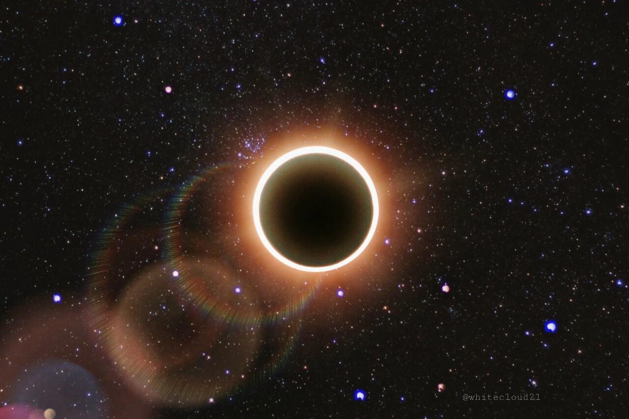 My remix of #eclipse2017 ??? #universe #sky #eclipse #solareclipse #moon #black #stars #starrysky #editedbyme #editedwithpicsart #colorful #doubleexpos