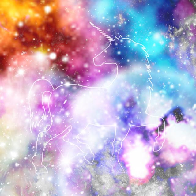 #freetoedit #galaxy #unicorn #sketched