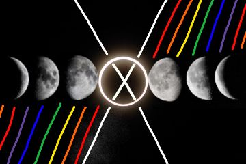 freetoedit lunarcycle rainbowcolors lines x